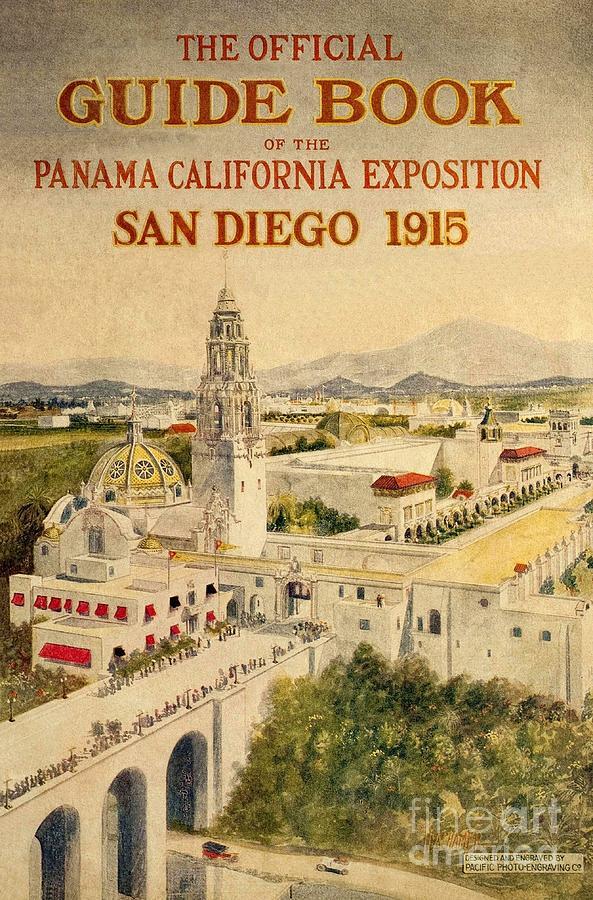 Vintage Digital Art - 1915 Panama California Exposition by Heidi De Leeuw