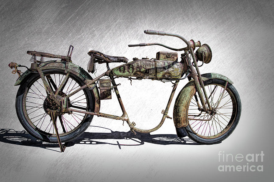 1918 Harley Davidson Motorcycle Frame by Nick Gray