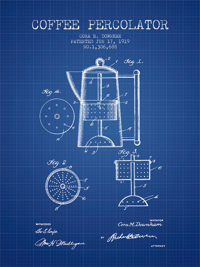 1919 coffee percolator patent blueprint digital art by aged pixel coffee digital art 1919 coffee percolator patent blueprint by aged pixel malvernweather Gallery