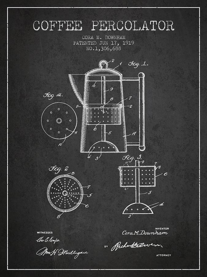 1919 Coffee Percolator Patent