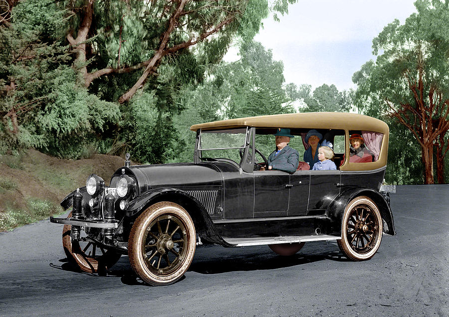 Colorized 1919 Haynes Touring Car In Summer Colors Digital Art by ...