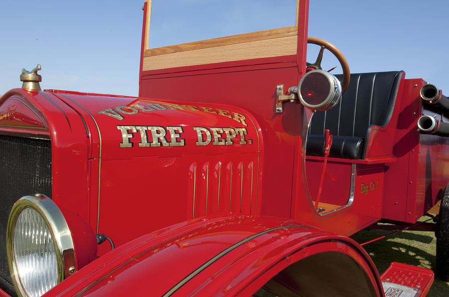 1919 Ford Model T Photograph - 1919 Volunteer Fire Truck by Jill Reger