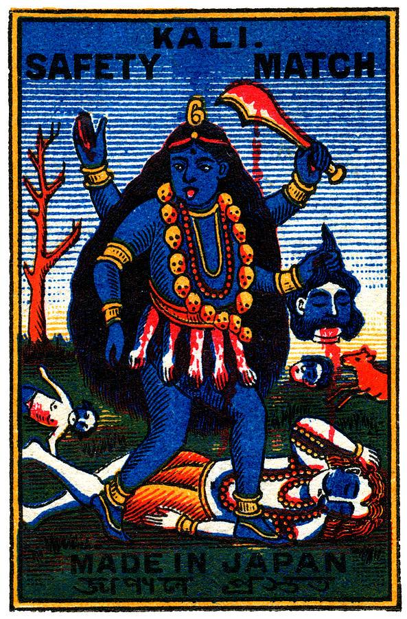 Hindu Painting - 1920 Hindu Goddess Kali by Historic Image