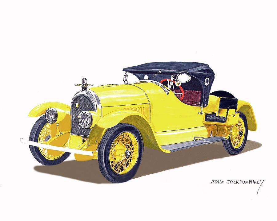 1920 Kissel Gold Bug Speedster Painting