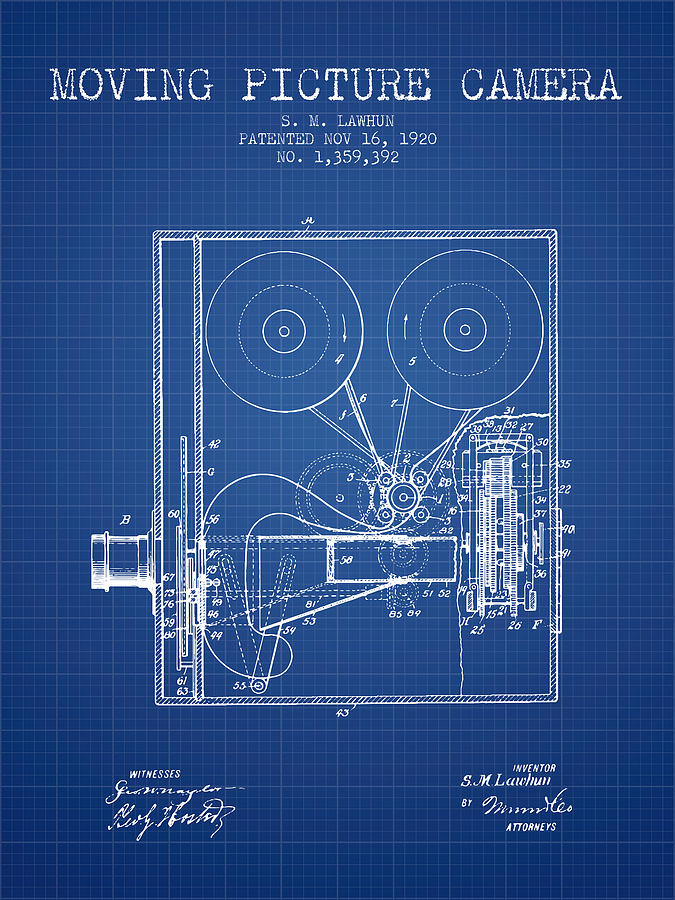 1920 moving picture camera patent blueprint digital art by aged pixel camera digital art 1920 moving picture camera patent blueprint by aged pixel malvernweather Images