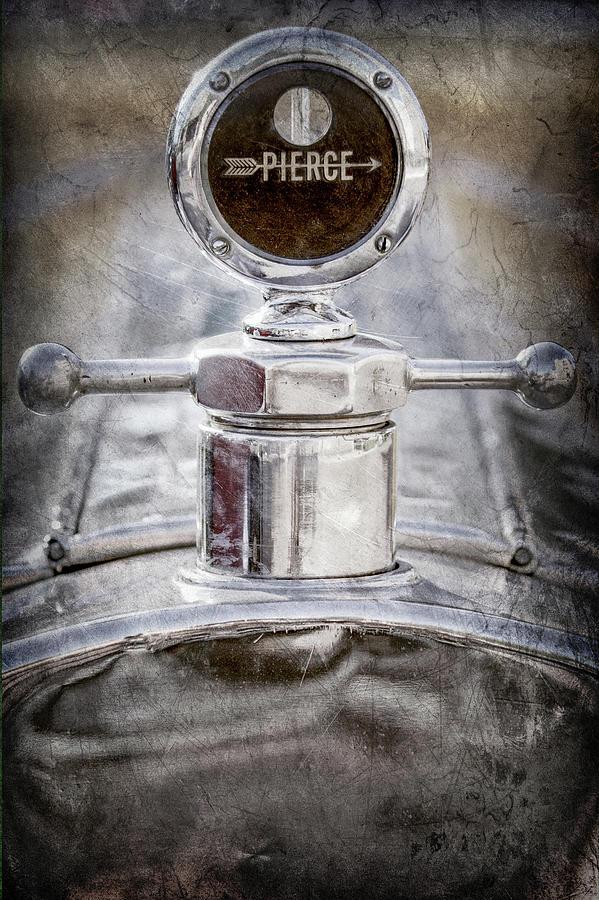 Classic Cars Photograph - 1920 Pierce-arrow Model 48 Coupe Hood Ornament -2829ac by Jill Reger