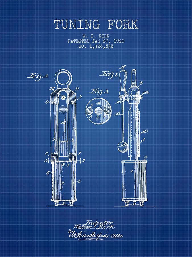 1920 tuning fork patent blueprint digital art by aged pixel tuning fork digital art 1920 tuning fork patent blueprint by aged pixel malvernweather Image collections