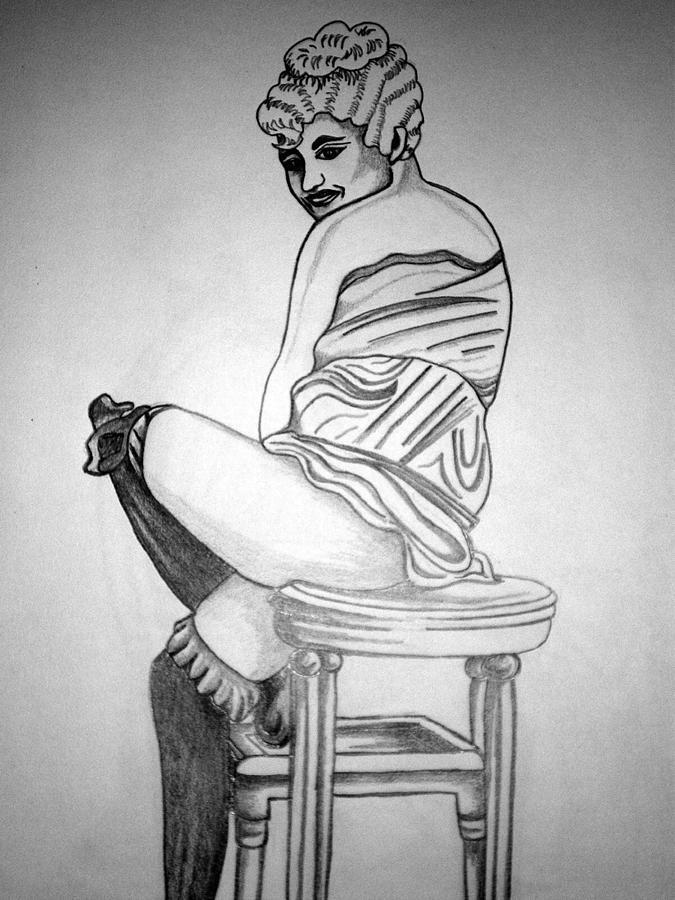 Deco Drawing - 1920s Women Series 10 by Tammera Malicki-Wong