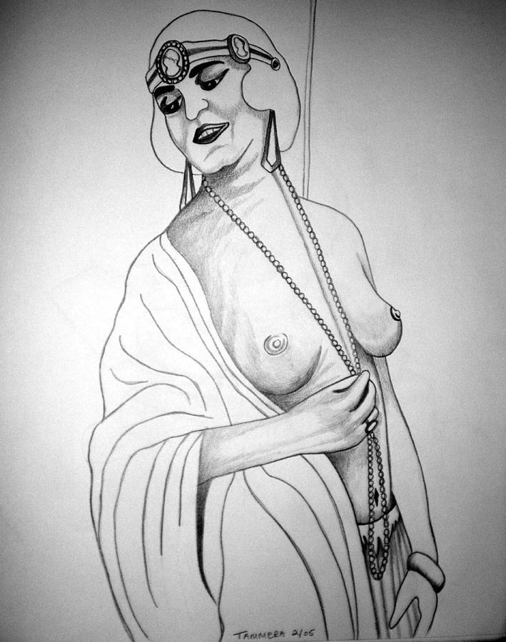 Deco Drawing - 1920s Women Series 13 by Tammera Malicki-Wong
