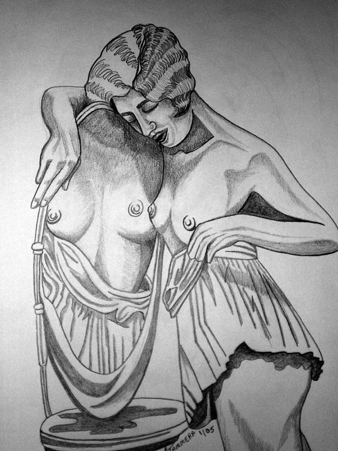 Deco Drawing - 1920s Women Series 8 by Tammera Malicki-Wong