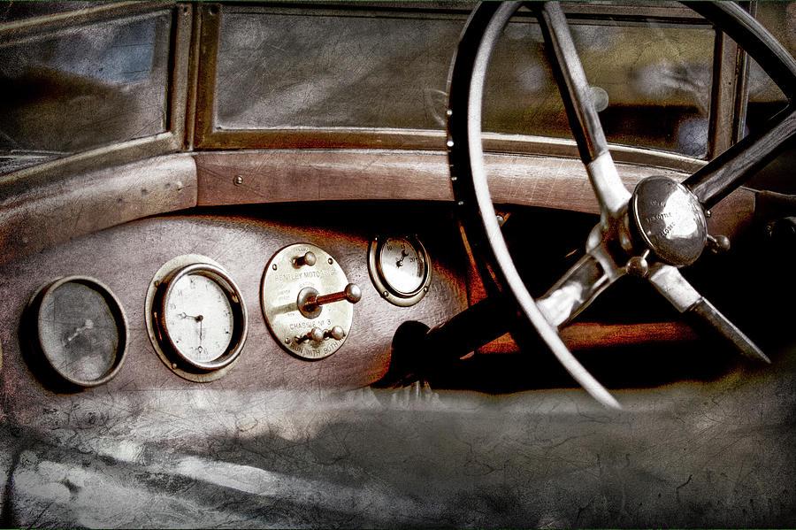 Transportation Photograph - 1921 Bentley Steering Wheel -0454ac by Jill Reger