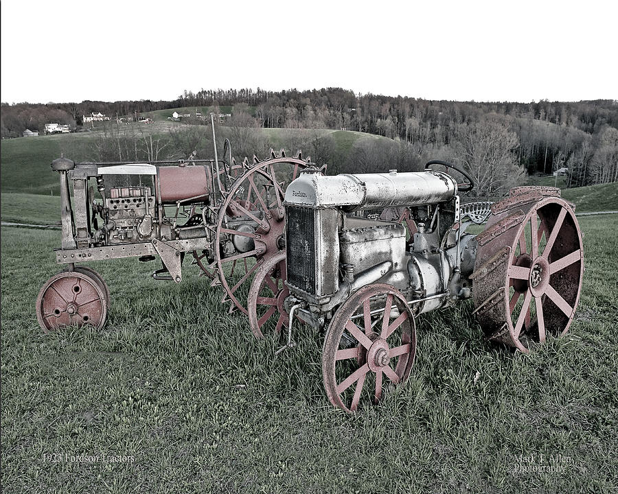 Nicholas County Photograph - 1923 Fordson Tractors by Mark Allen