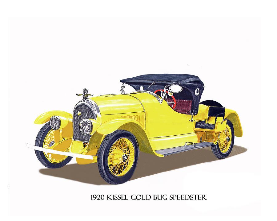 1923 Kissel Kar  Gold Bug Speedster Painting