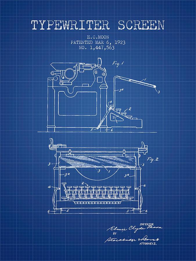 1923 typewriter screen patent blueprint digital art by aged pixel typewriter digital art 1923 typewriter screen patent blueprint by aged pixel malvernweather Gallery