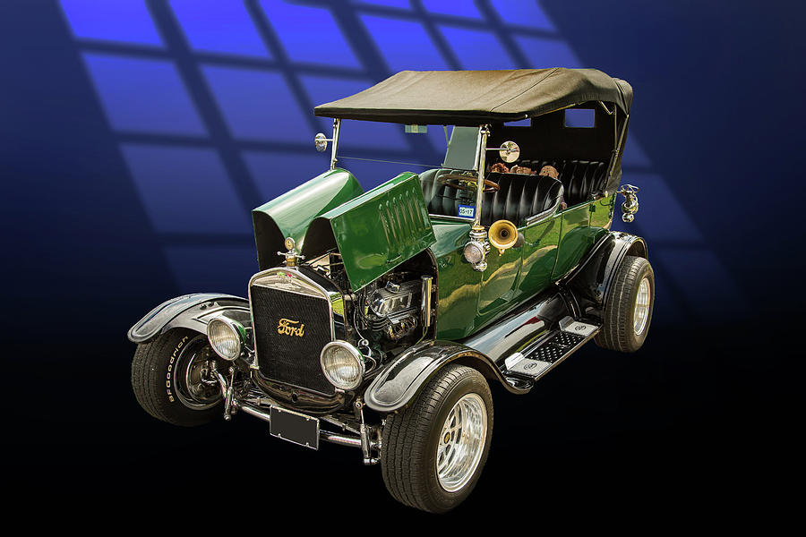 Model T Photograph - 1924 Ford Model T Touring Hot Rod 5509.002 by M K Miller