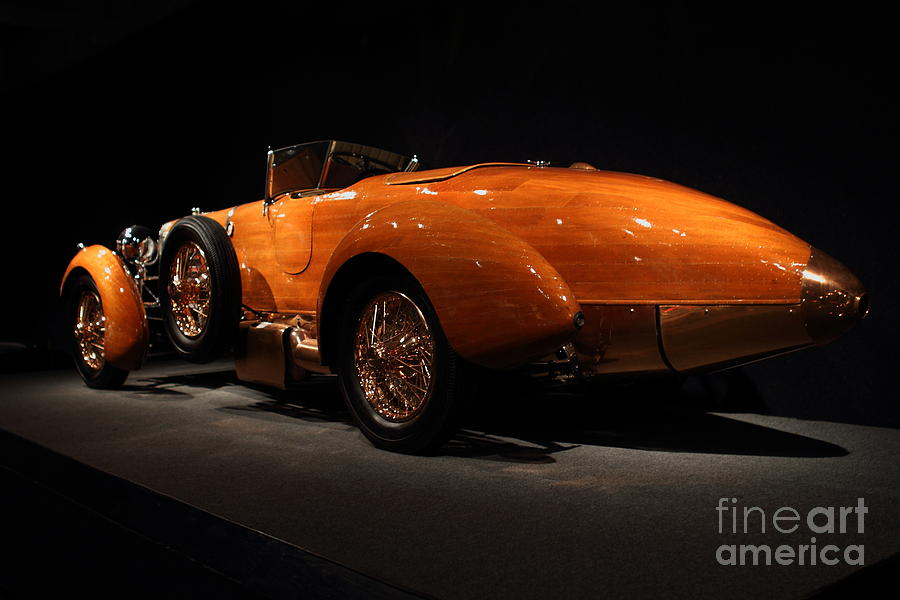 Car Photograph - 1924 Hispano Suiza Dubonnet Tulipwood . Rear Angle by Wingsdomain Art and Photography