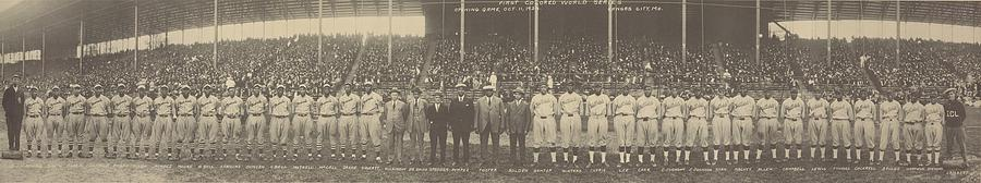 History Photograph - 1924 Negro League World Series. Players by Everett