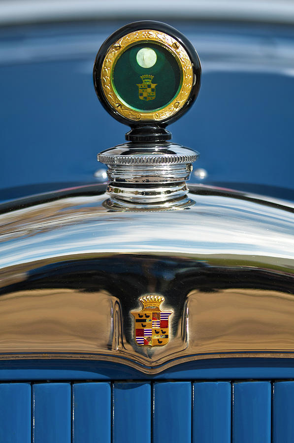 Car Photograph - 1926 Cadillac Series 314 Custom Hood Ornament by Jill Reger