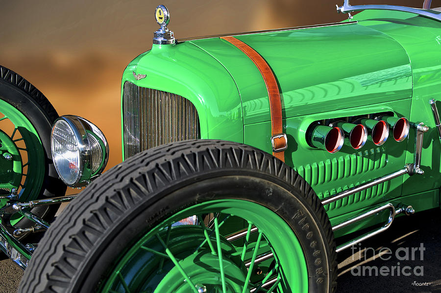 Auto Photograph - 1926 Ford Model T dry Lakes Roadster V by Dave Koontz