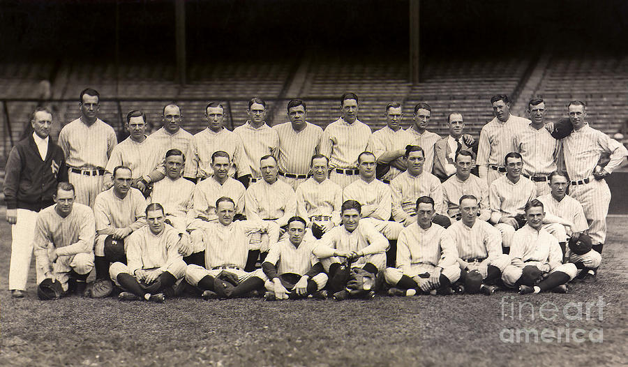 Babe Ruth Photograph - 1926 Yankees Team Photo by Jon Neidert