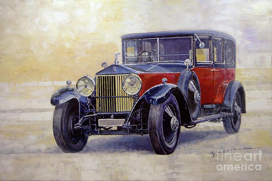 Automotive Painting - 1927 Rolls-royce 40-50 Phantom 1  by Yuriy Shevchuk