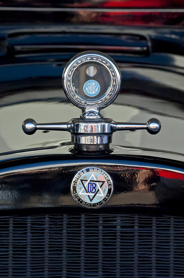 Hoodie Photograph - 1928 Dodge Brothers Hood Ornament by Jill Reger