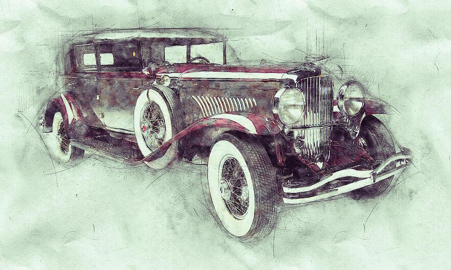 1928 Duesenberg Model J 1 - Automotive Art - Car Posters Mixed Media