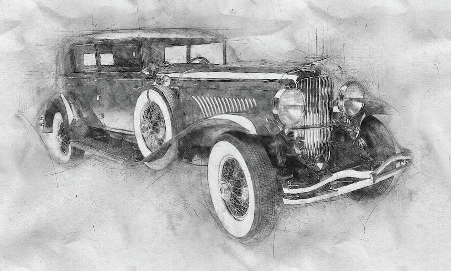 Roadster Mixed Media - 1928 Duesenberg Model J - Automotive Art - Car Posters by Studio Grafiikka