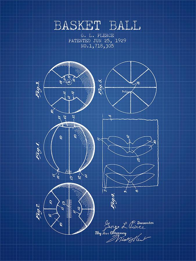 1929 basket ball patent blueprint digital art by aged pixel basketball digital art 1929 basket ball patent blueprint by aged pixel malvernweather Choice Image