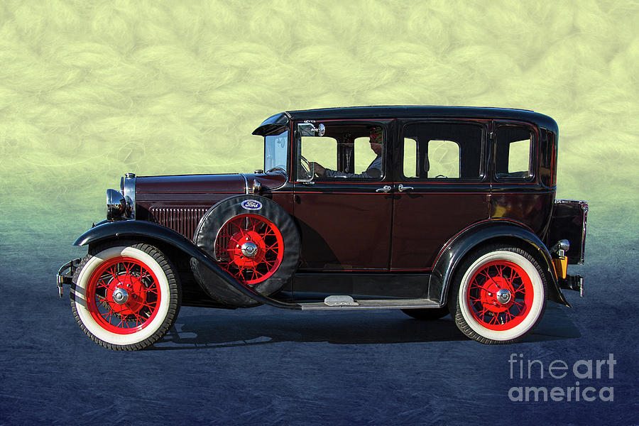 Ford Photograph - Historical Ford 4 Door Sedan by Nick Gray