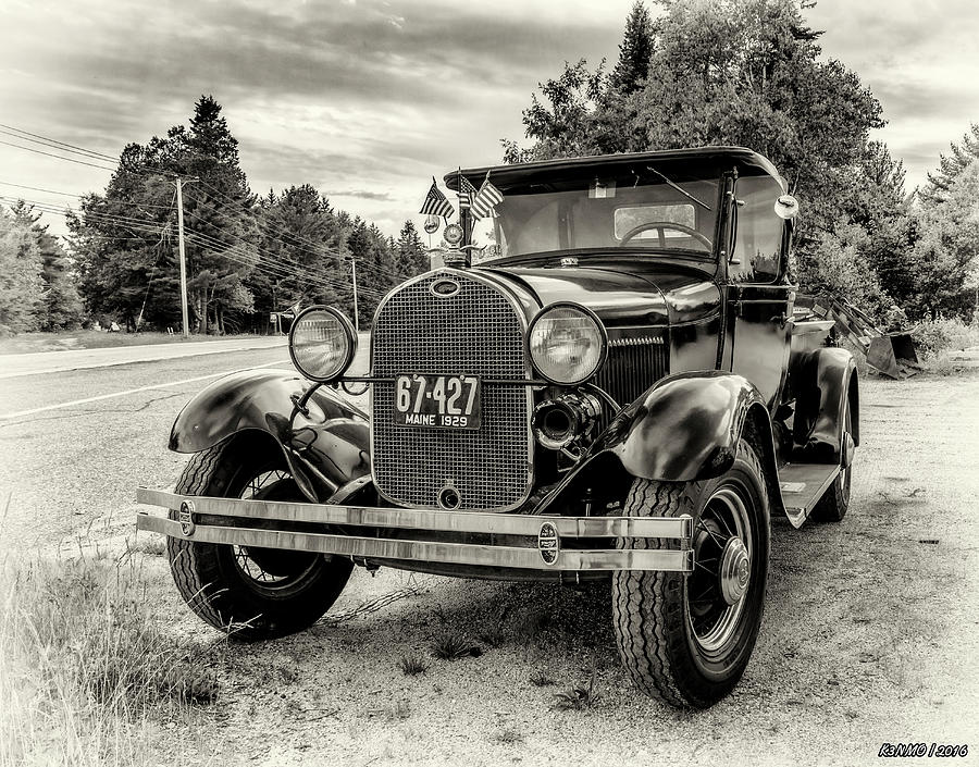 Maine Photograph - 1929 Ford Model A Pickup by Ken Morris