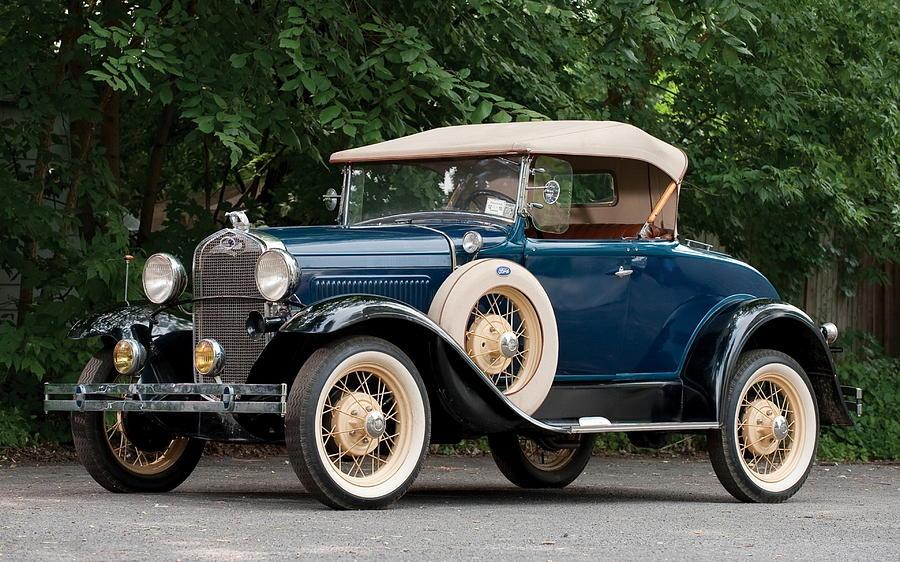1929 Ford Model A Roadster Digital Art By Winna Perlin