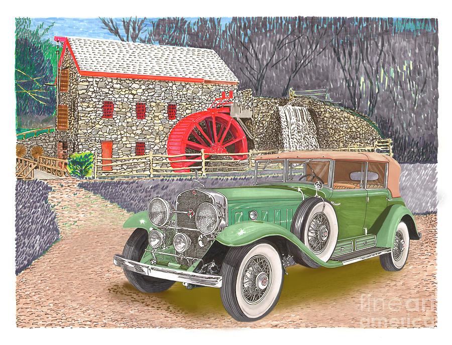 1930 Cadillac V-16 Painting