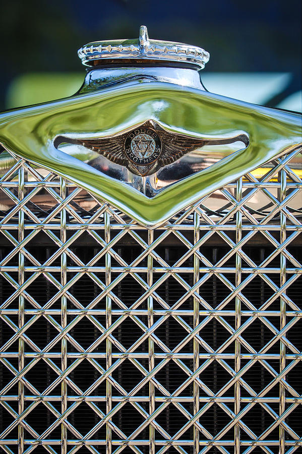 Car Photograph - 1930 Db Dodge Brothers Hood Ornament And Grille by Jill Reger