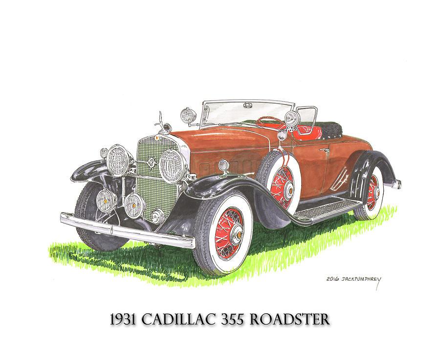 1931 Cadillac 355 V 8 Roadster Painting