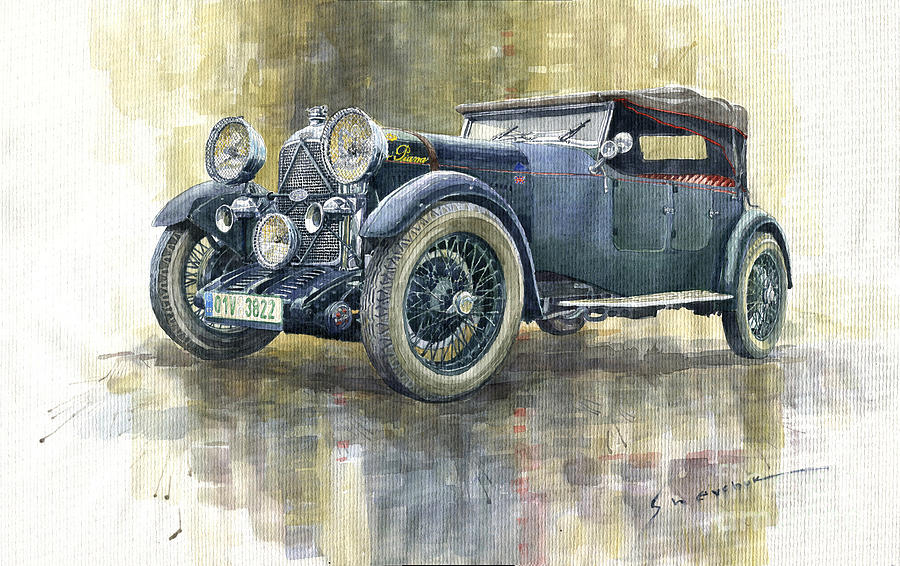 Automotive Painting - 1932 Lagonda Low Chassis 2 Litre Supercharged Front by Yuriy Shevchuk