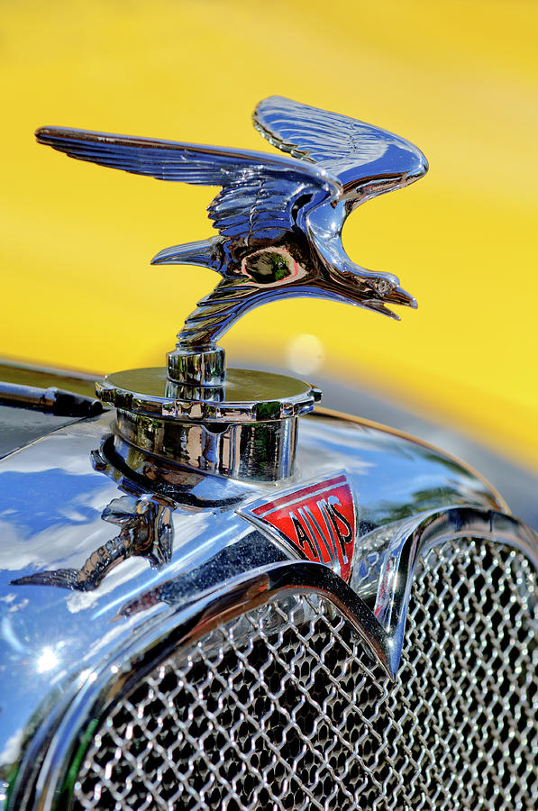 1932 Alvis Photograph - 1932 Alvis Hood Ornament by Jill Reger
