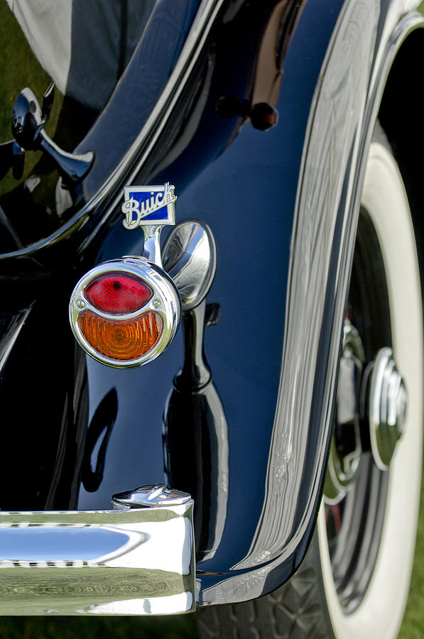 Classic Car Photograph - 1932 Buick Series 60 Phaeton Taillight by Jill Reger