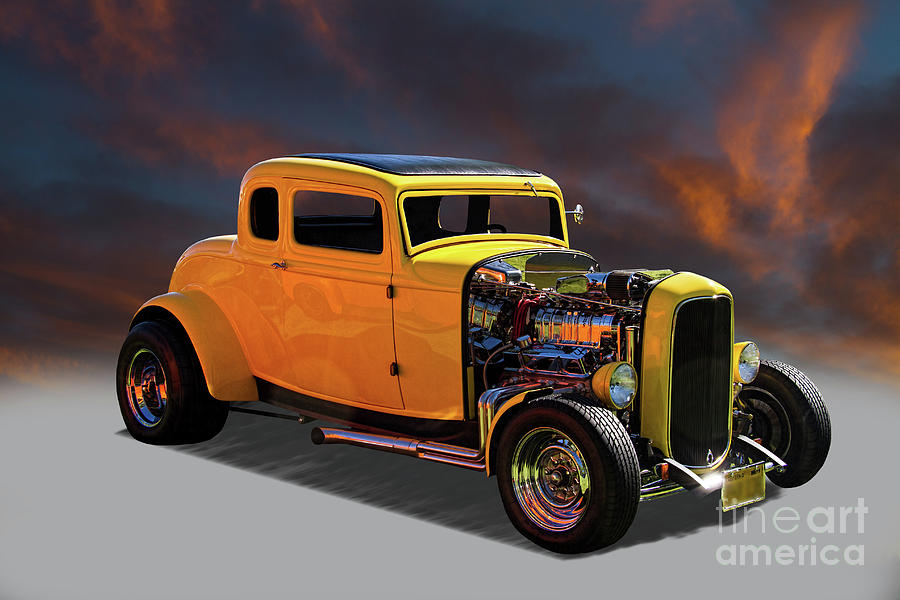 1932 Ford 5 Window Coupe Hot Rod Photograph by Nick Gray