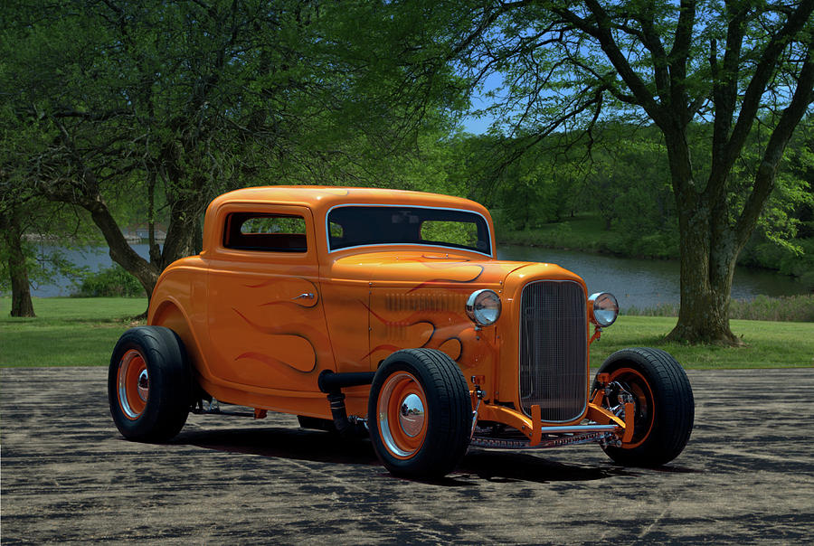1932 Ford Coupe Hot Rod Photograph by TeeMack