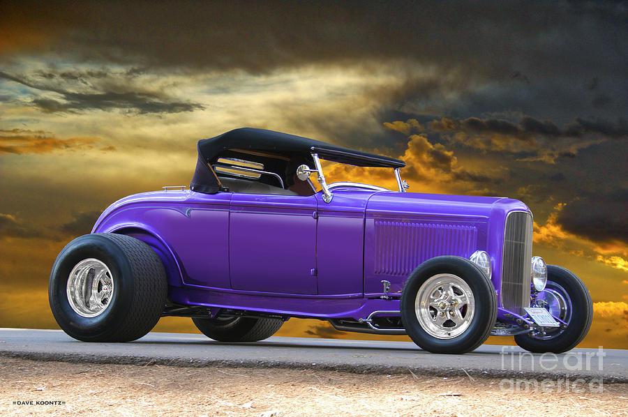 1932 Ford Hiboy Roadster Purple Haze Photograph By Dave Koontz
