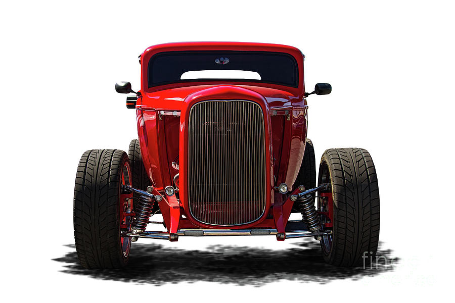 1932 Ford Hot Rod Front View Photograph by Nick Gray
