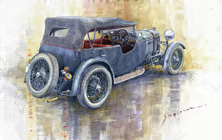 Automotive Painting - 1932 Lagonda Low Chassis 2 Litre Supercharged  by Yuriy Shevchuk