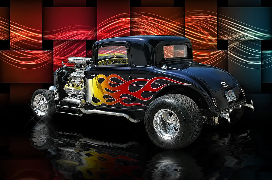 1932 Digital Art - 1932 Plymouth Coupe .... by Rat Rod Studios
