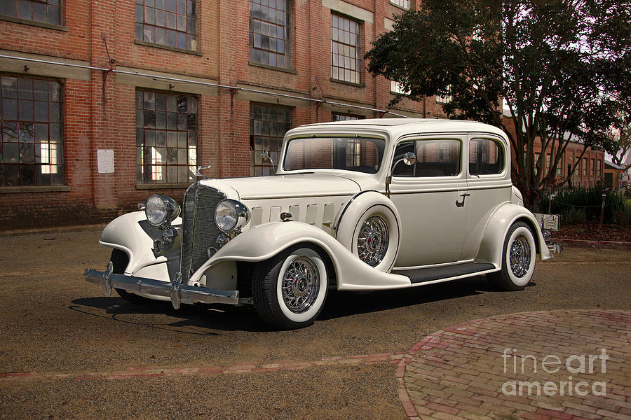 Auto Photograph - 1933 Buick Victoria bootleg Beauty by Dave Koontz