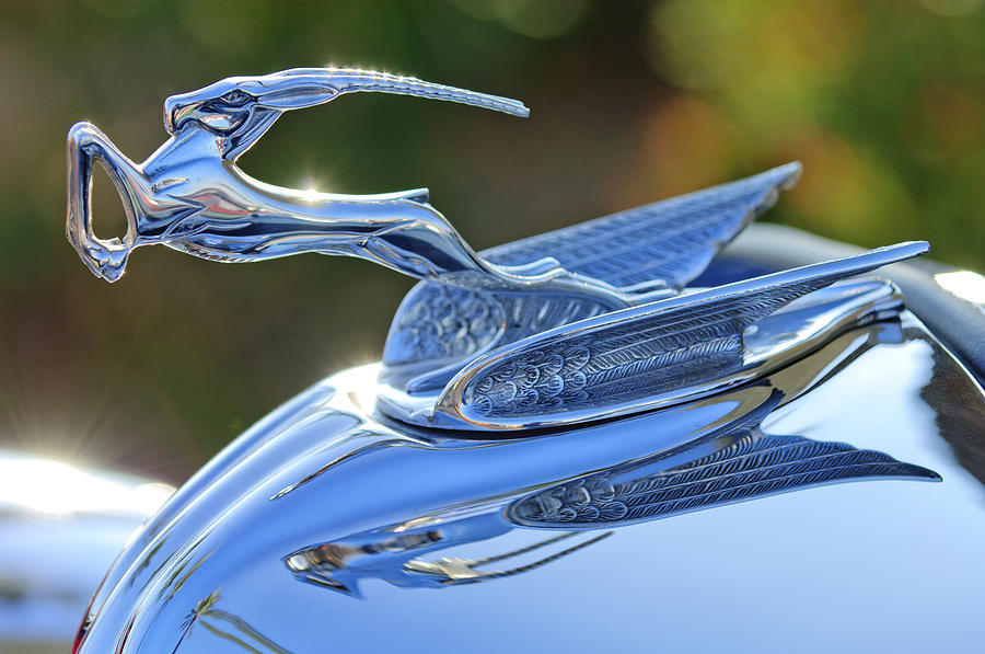 Hoodie Photograph - 1933 Chrysler Imperial Hood Ornament 2 by Jill Reger