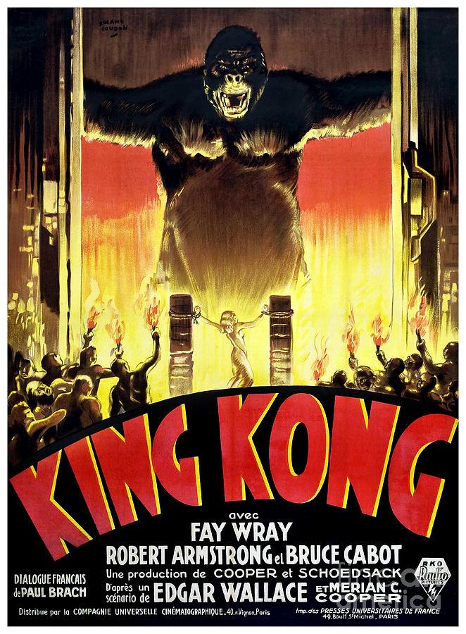 1933 King Kong French Movie Poster By Jon Neidert