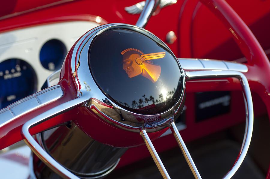 Chief Photograph - 1933 Pontiac Steering Wheel by Jill Reger