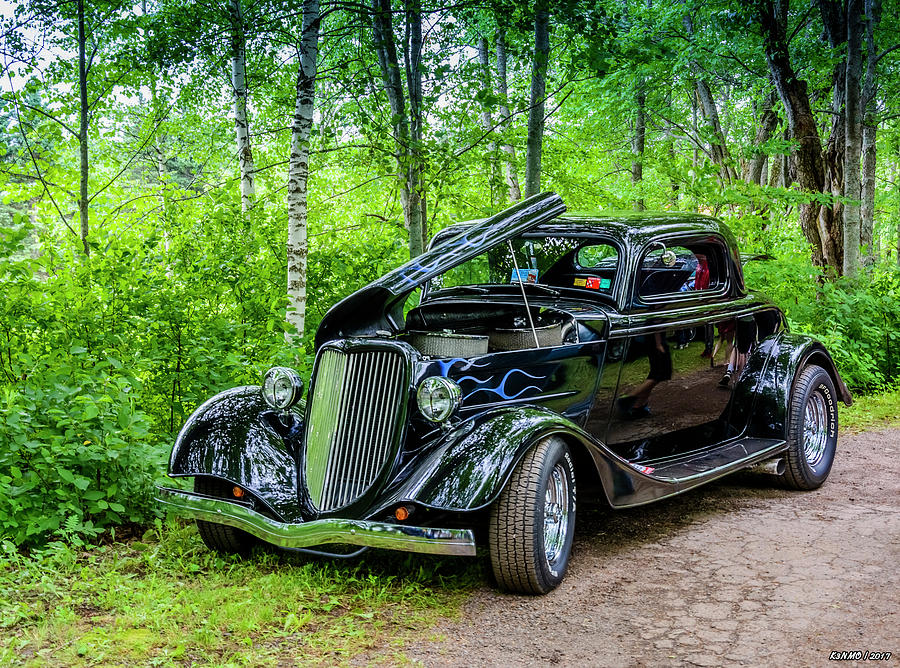 2016 Photograph - 1934 Ford 3 Window Coupe by Ken Morris