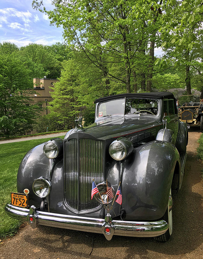 1934 Packard Coupe Convertible by Lois Johnson